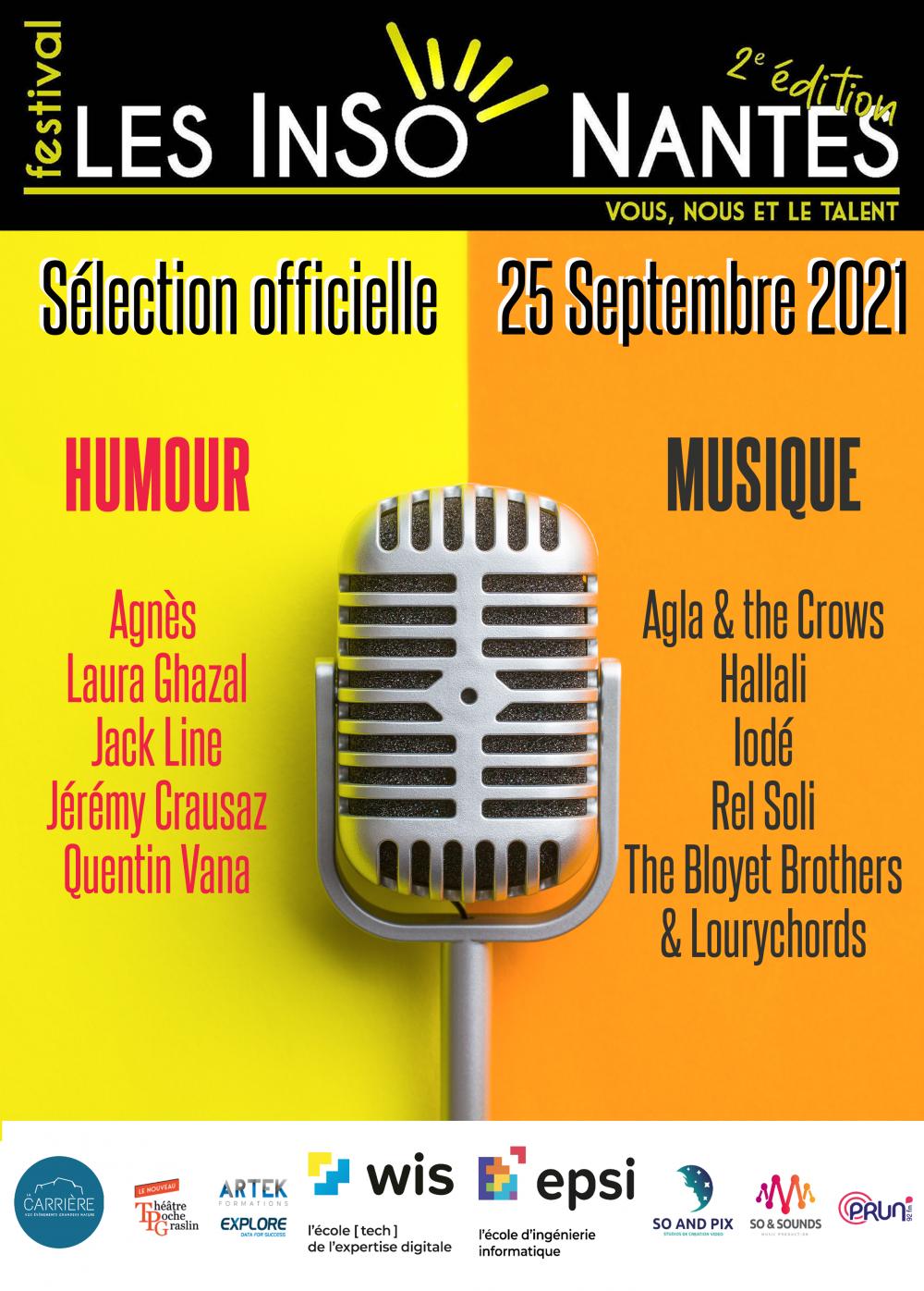 SELECTION OFFICIELLE FESTIVAL LESINSONANTES (Edition 2 25/09/2021)