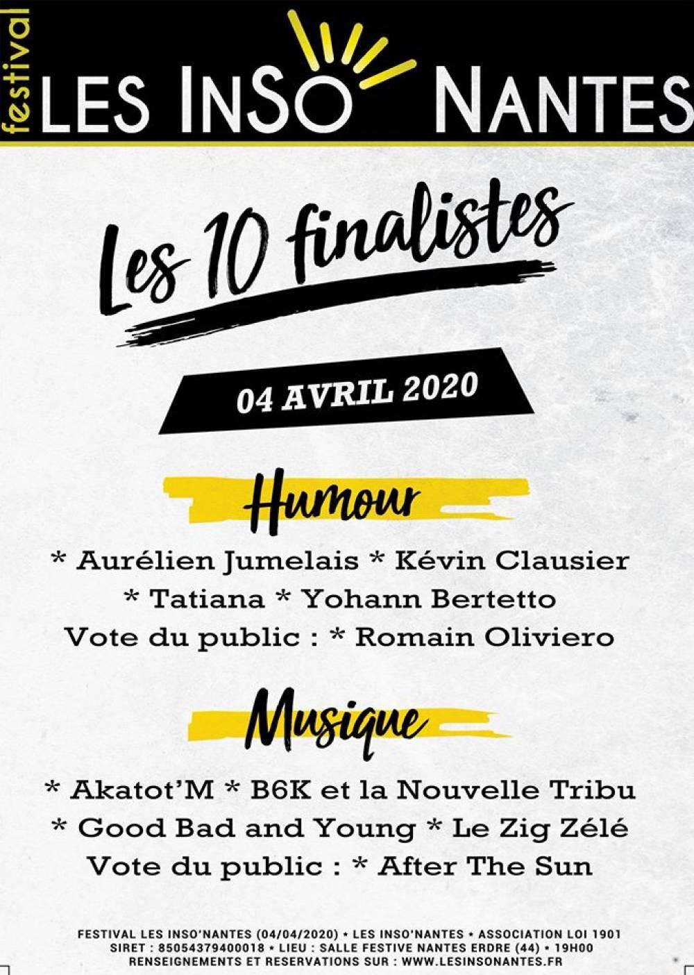 FESTIVAL LES INSO' NANTES 2020 SÉLECTION OFFICIELLE (04/04/2020)