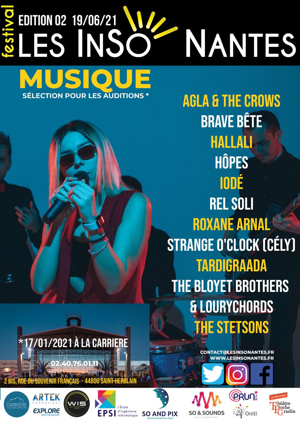 AUDITIONS LESINSONANTES CATÉGORIE MUSIQUE GROUPES (Edition 2 - 19/06/2021 )