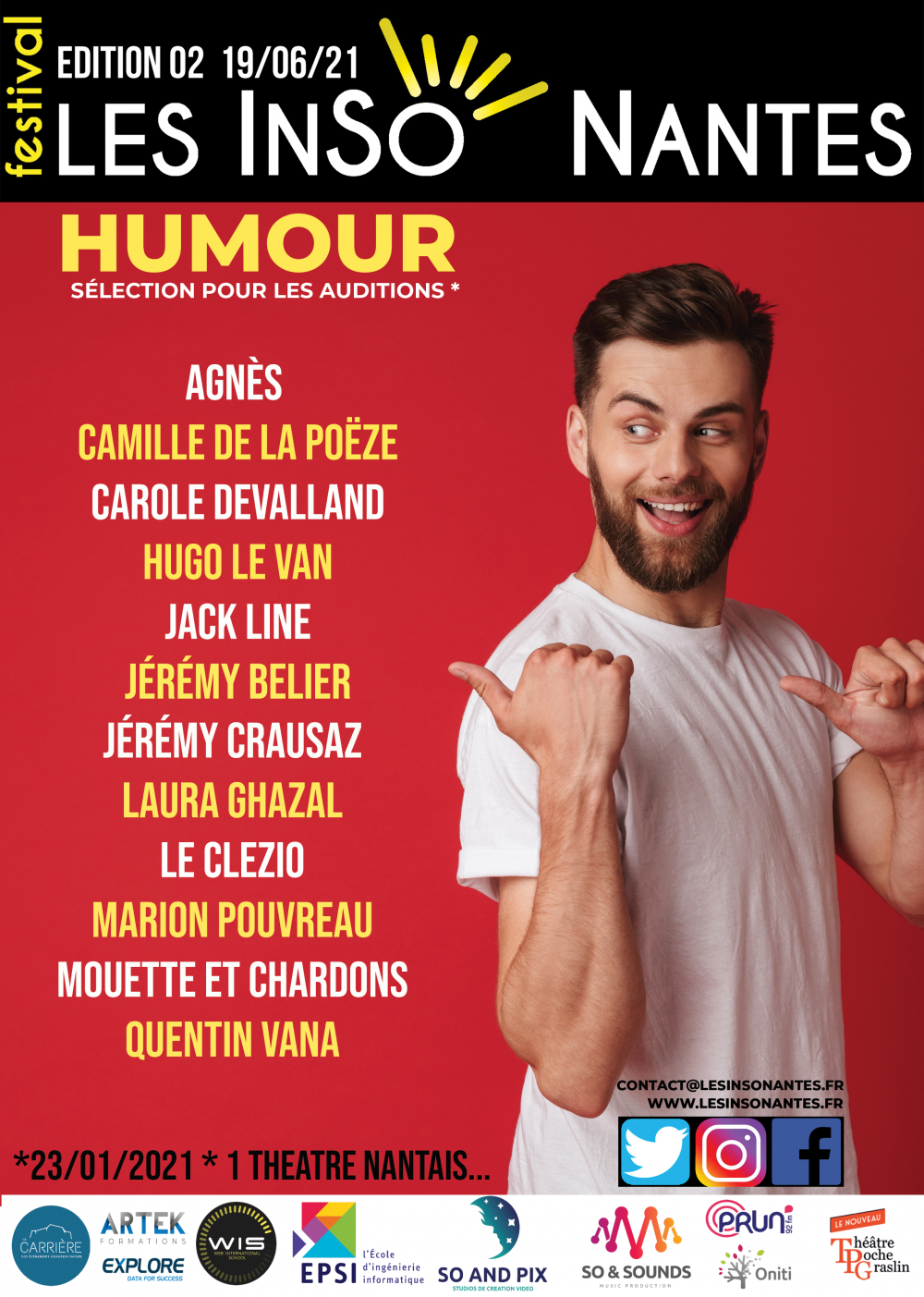 AUDITIONS LESINSONANTES CATÉGORIE HUMOUR STAND UP (Edition 2 - 19/06/2021 )