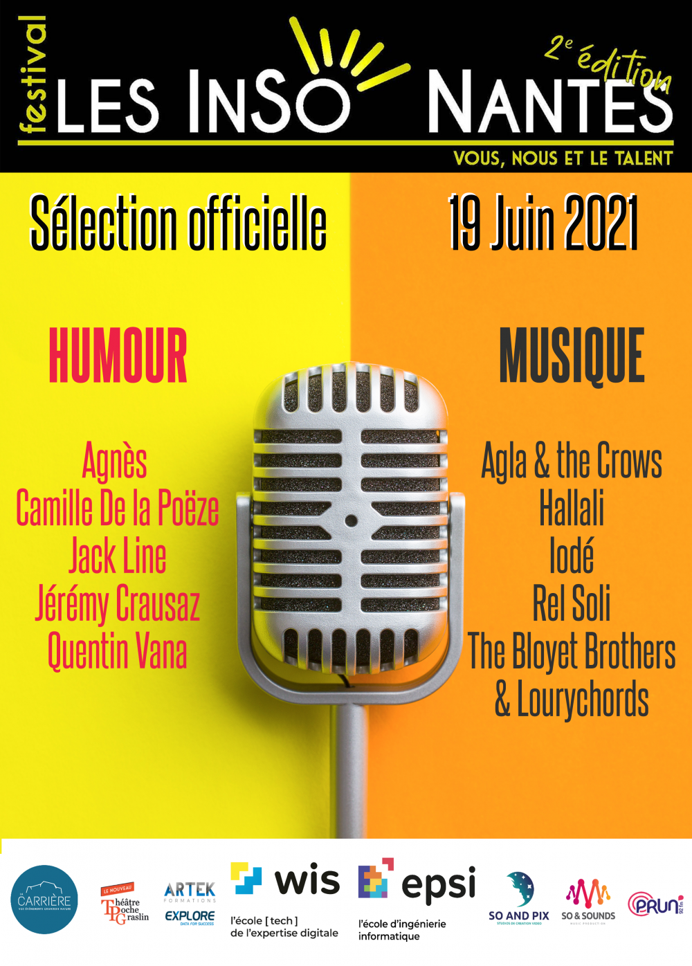 SELECTION OFFICIELLE FESTIVAL LESINSONANTES (Edition 2 19/06/2021)