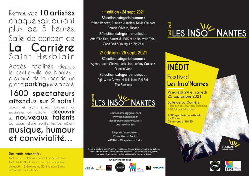 Brochure Festival Les inso' Nantes 2021_24 et 25 septembre