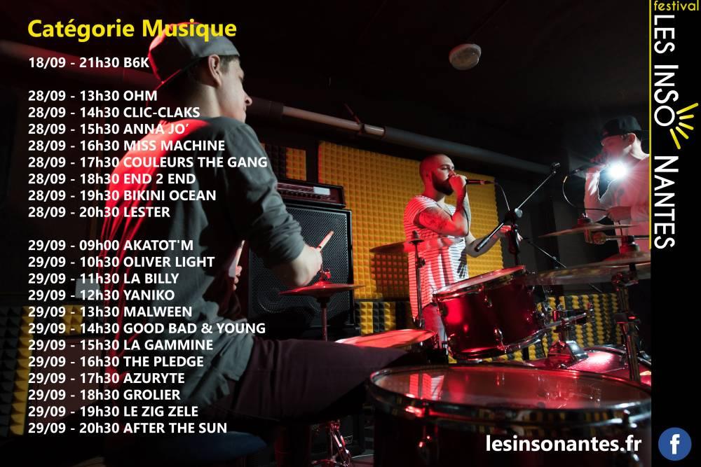 MUSICIENS/AUTEURS SELECTIONNES POUR LES AUDITIONS DE SEPTEMBRE 2019